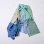 Tile Wild-Silk Scarf - Pool Blues