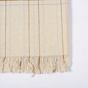 Grid Blanket - Parma Terracotta