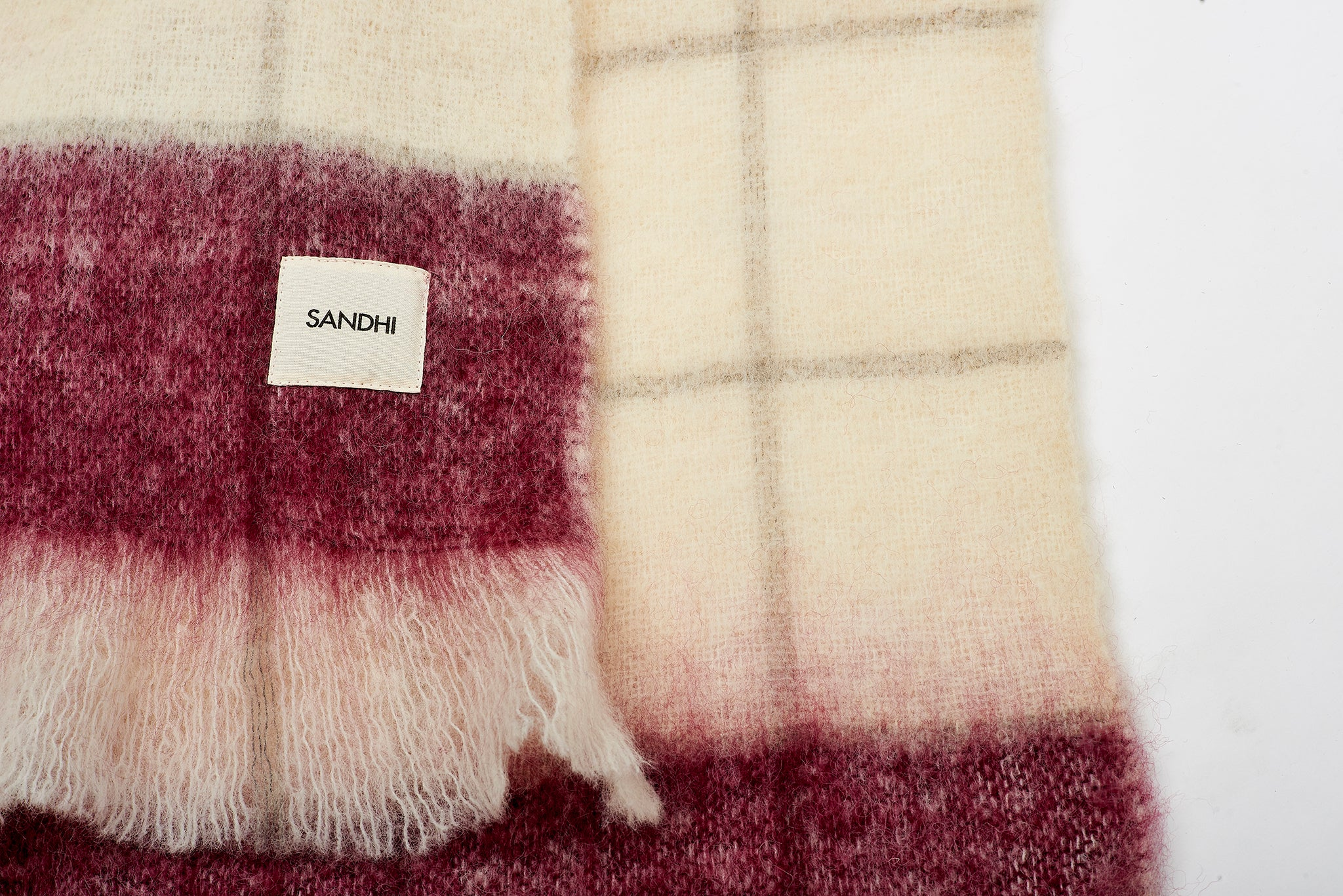 White & violet Super Soft & Cozy Blanket | Sandhi