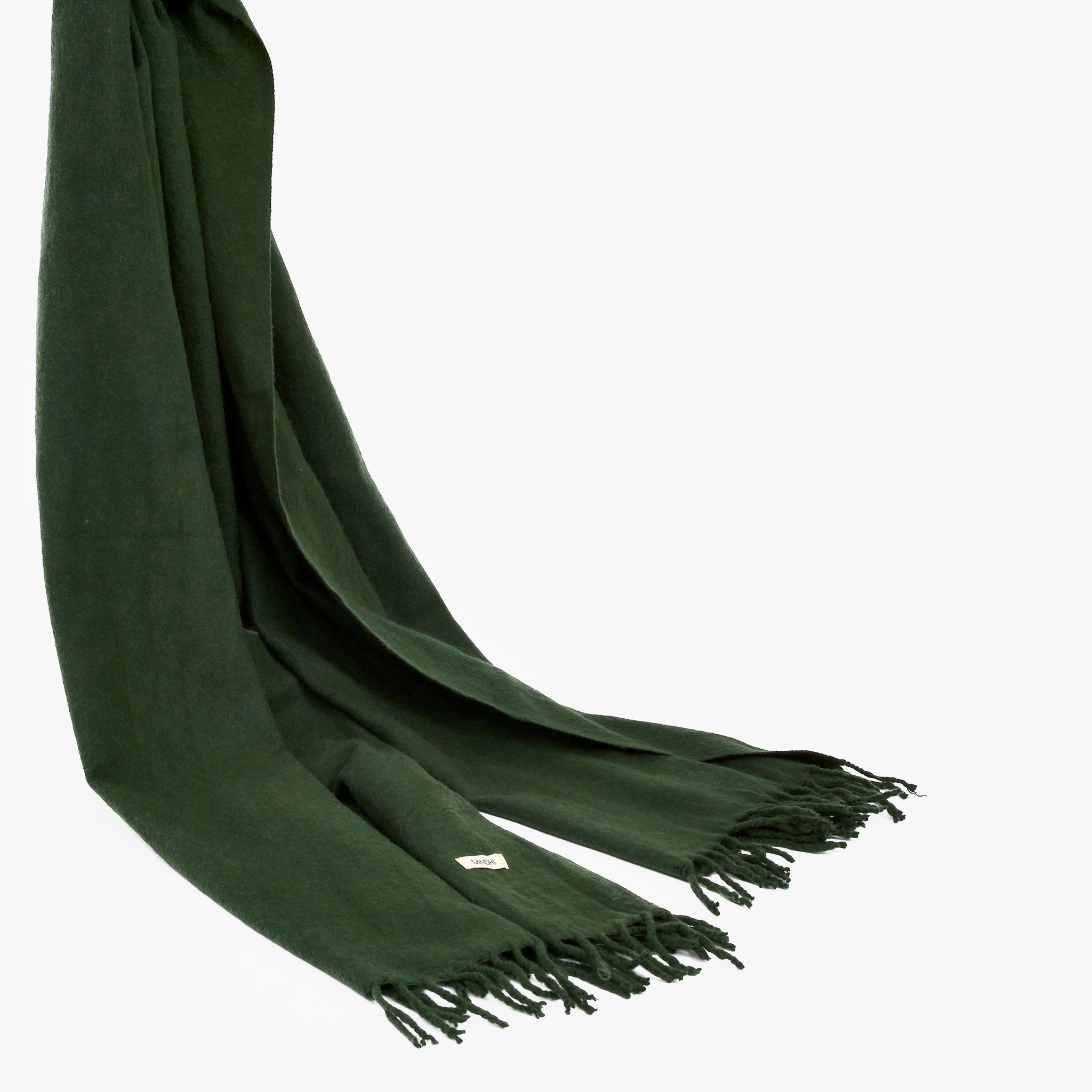 Lambswool Green Scarf Unisex Scalf | Sandhi