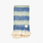 Blue Green Throw Blanket New Wool | Sandhi