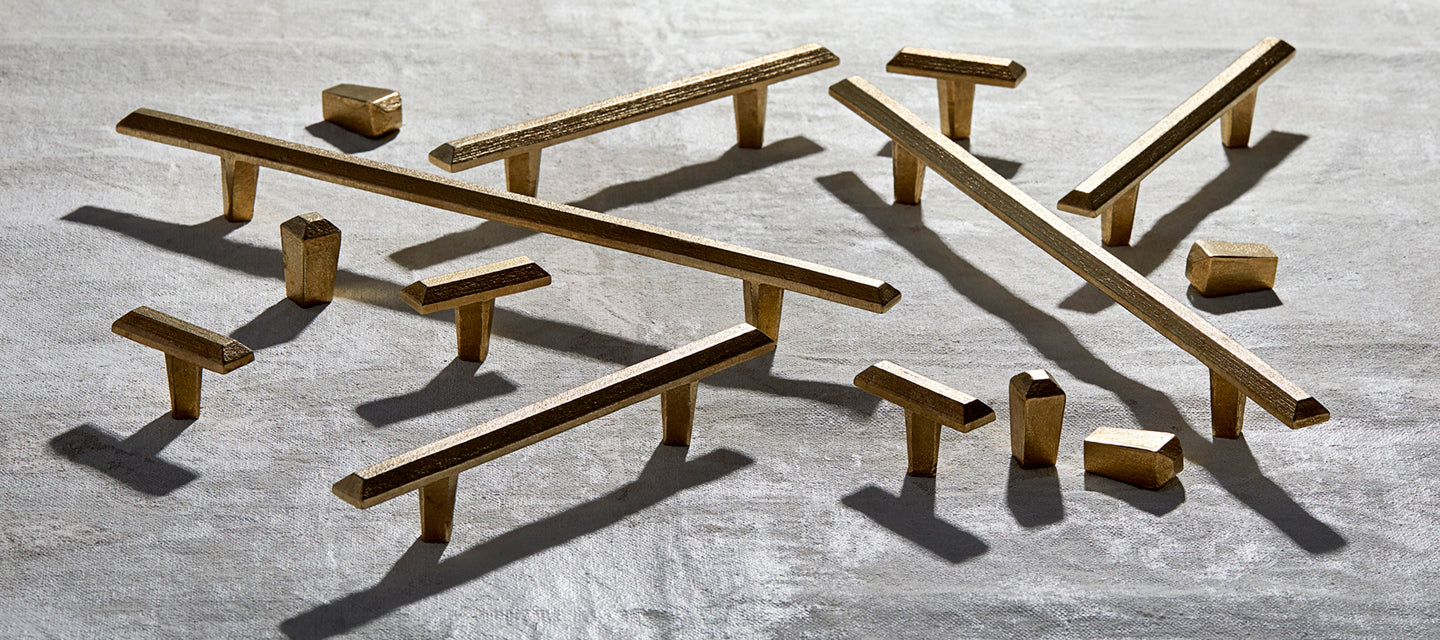 Modern Bronze cast cabinetry hardware from Shayne Fox Hardware