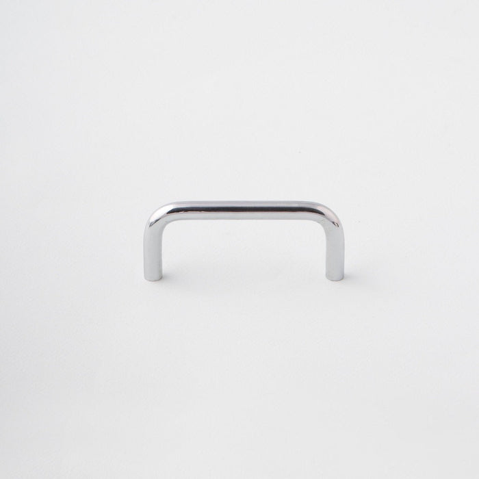 Polished Chrome Cabinet Handle made in Toronto. Modern hardware.