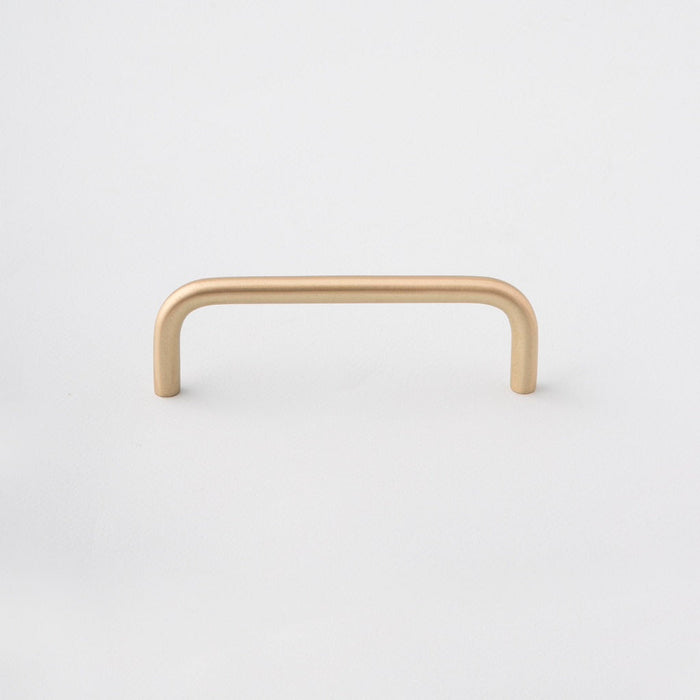 Polished Brass Cabinet Handle made in Toronto. Modern hardware.