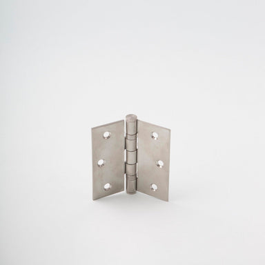 Classically designed stainless steel door hinge.