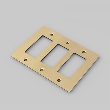 Buster and Punch Modern Electrical Plate in Brass