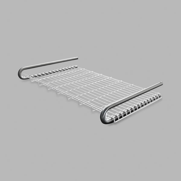 The Knud Towel Shelf is party of the Sanitary Line by d line. The shelf is built with longevity in mind, providing a sturdy structure for Commercial or Residential use. Available in White, Grey, or Satin Stainless, this item is theft-proof.