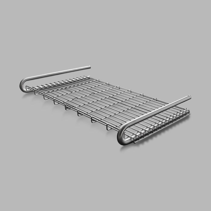 The Knud Towel Shelf is built with longevity in mind, providing a sturdy structure for Commercial or Residential use. Available in White, Grey, or Satin Stainless, this item is theft-proof.