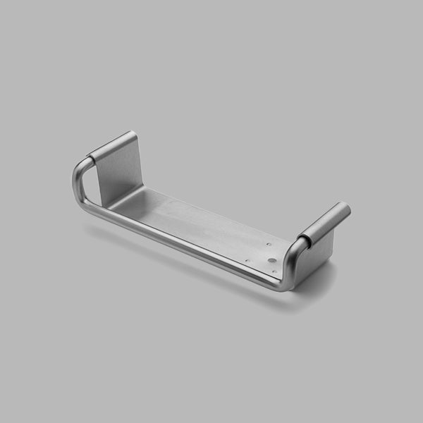A sturdy stainless steel shelf, the Knud Shelf is part of the Sanitary Collection by d line.  Offering storage for the bathroom, it's strong and sturdy design makes its suitable for both Commercial and Residential applications.