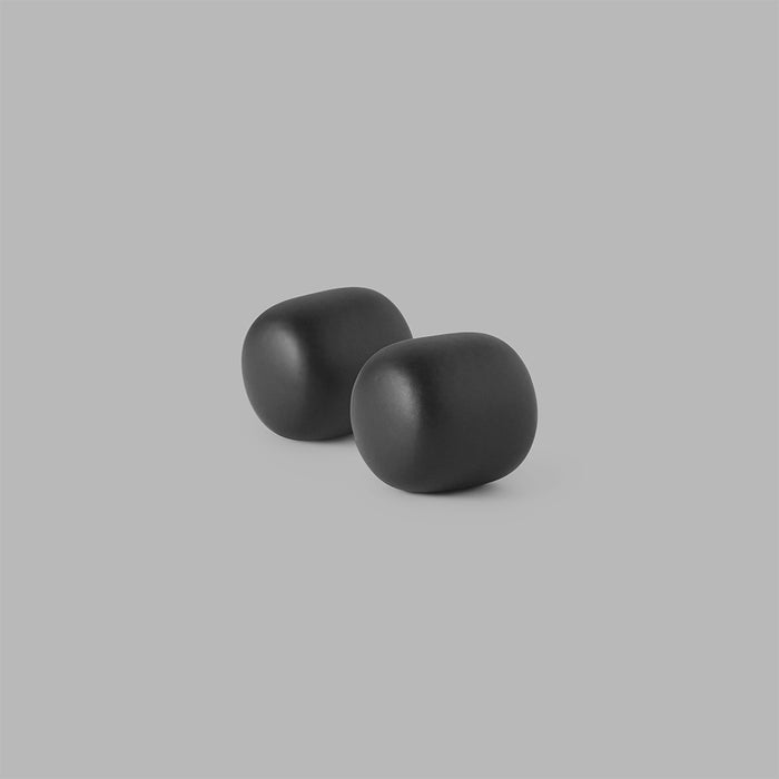 Minimal Pebble Bath Collection in Matte Black