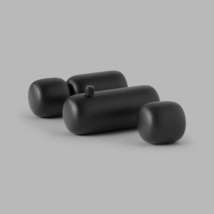 Minimal Pebble Bath Collection in Black