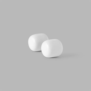 Minimal Pebble Collection Coat Hooks in White