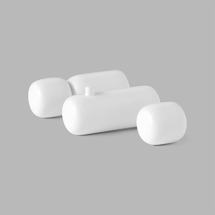 Minimal Pebble Bath Collection in White