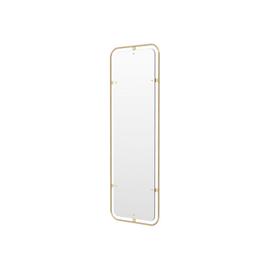 Nimbus Rectangular Mirror, Polished Brass by Krøyer-Sætter-Lassen