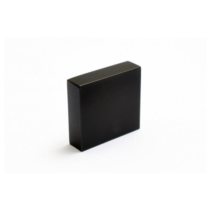 Square knob pull in Black Chrome. Modern and minimal.