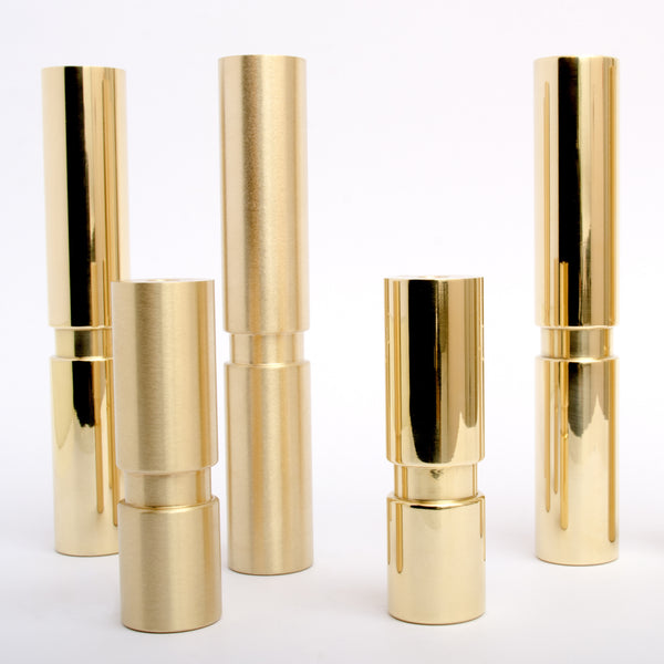 Elegant Polished and Brushed Brass furniture cabinetry legs.