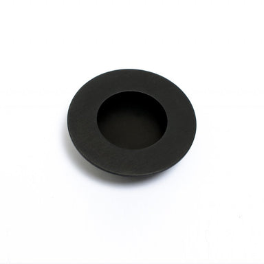 Black Round Minimal Flush Door Hardware for Sliding or Pocket doors