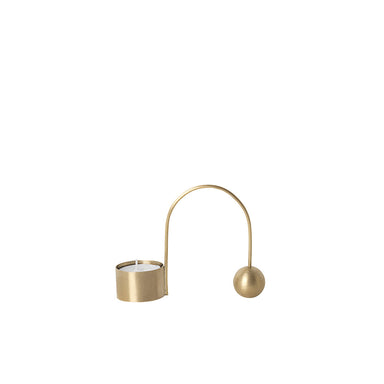 Balance Tealight Candle Holder in Brass from Ferm Living