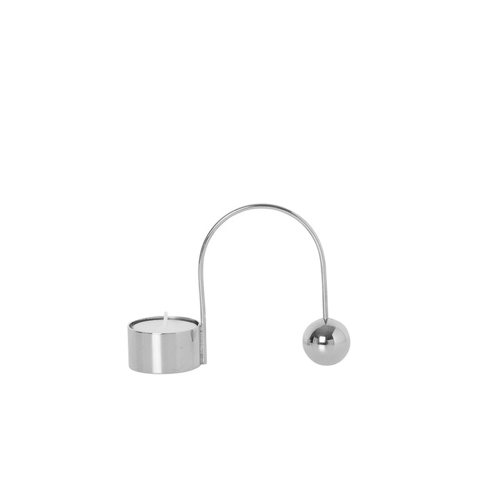 Balance Tealight Candle Holder in Chrome from Ferm Living