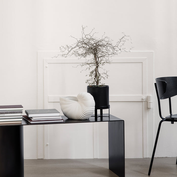 Bau Small Plant Pot in Black by Ferm Living