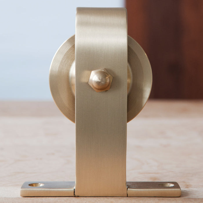 Brass Barn Door Hardware detail