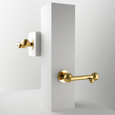 Whimsical Bubbles Door Lever Handle on Rose in Polished Brass