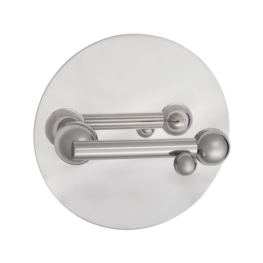 Whimsical Bubbles Door Lever Handle on Plate in Nickel