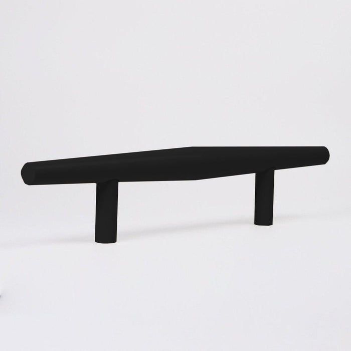 The Charlie Bicone Door Pull in Black and  made in Canada.