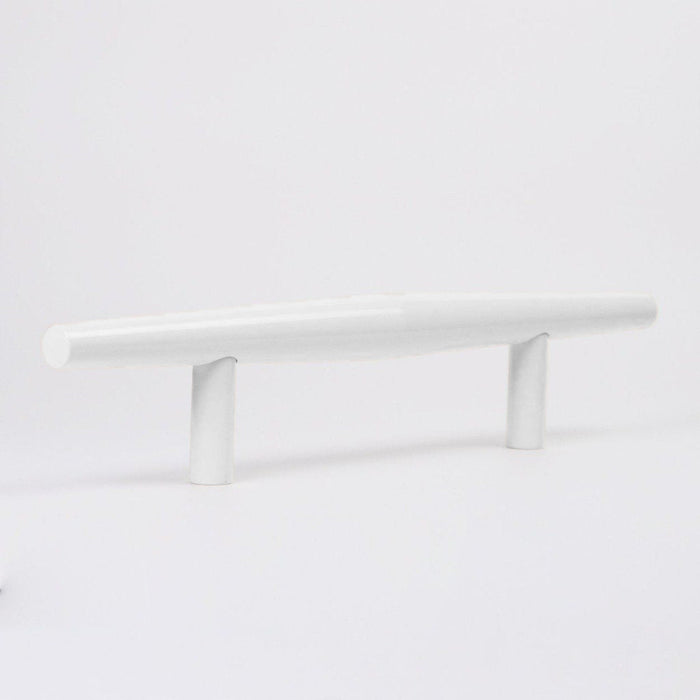 The Charlie Bicone Door Pull in White and  made in Canada.