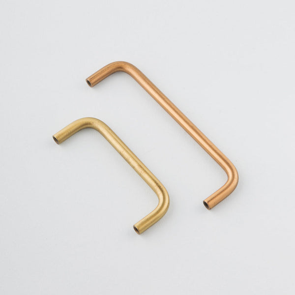 Tubular cabinet handles. This simple pull comes in several sizes.