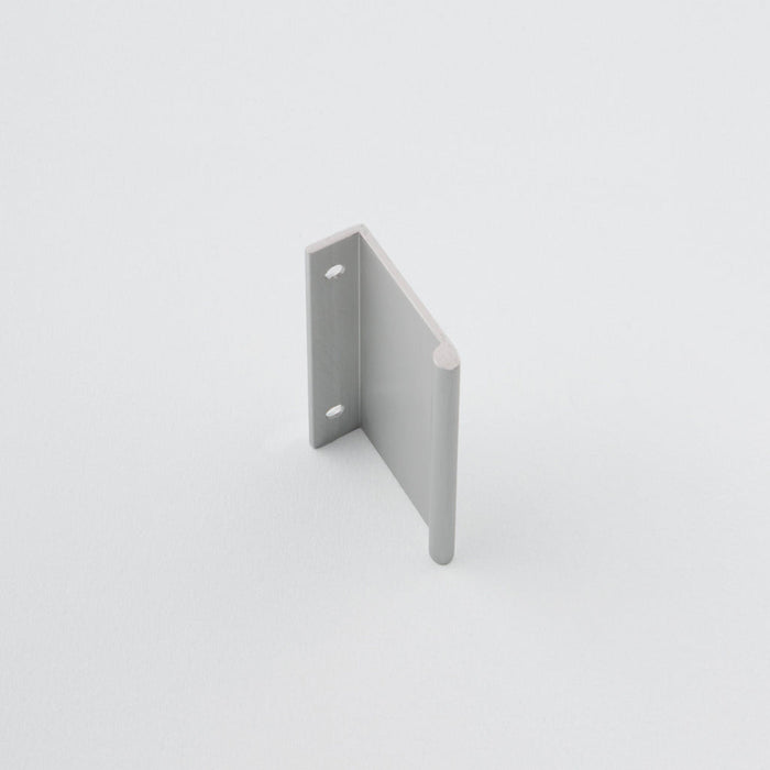 Side view of Charlie round edge pull. Modern hardware made in Toronto.