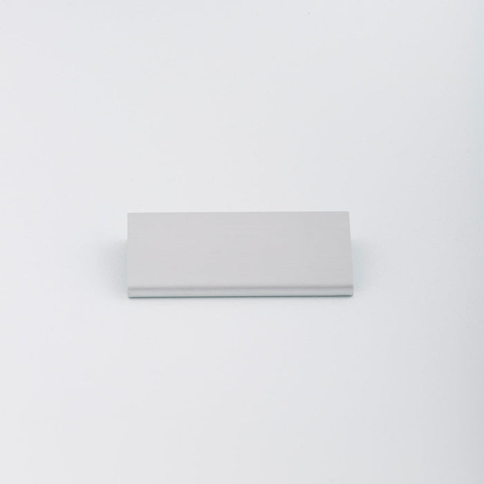 Simple Aluminum Tab pull with circular round edge profile. Made in Toronto.