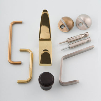 CBH Charlie Collection of hooks, handle pulls and door stops.