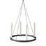 Circle Candle Holder Large Black by Ferm Living