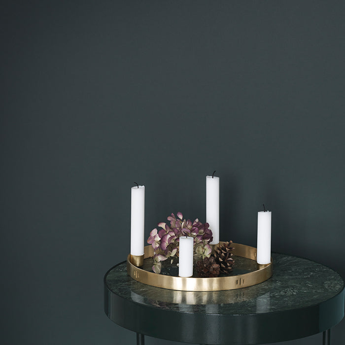 Circle Candle Holder Small Brass by Ferm Living