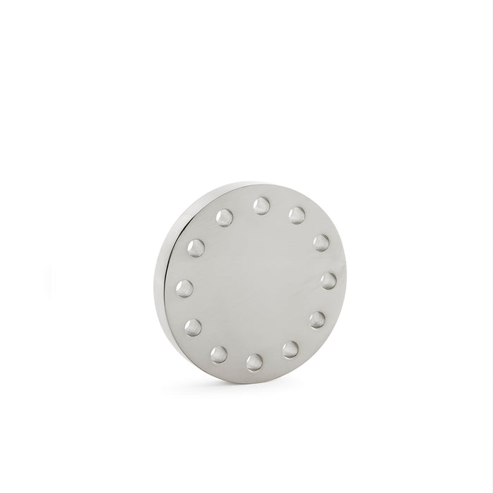 Refined Stardust Collection Door Knob in Nickel