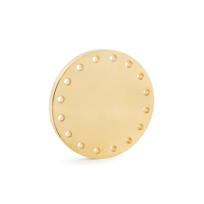 Refined Stardust Collection Door Knob in Brass