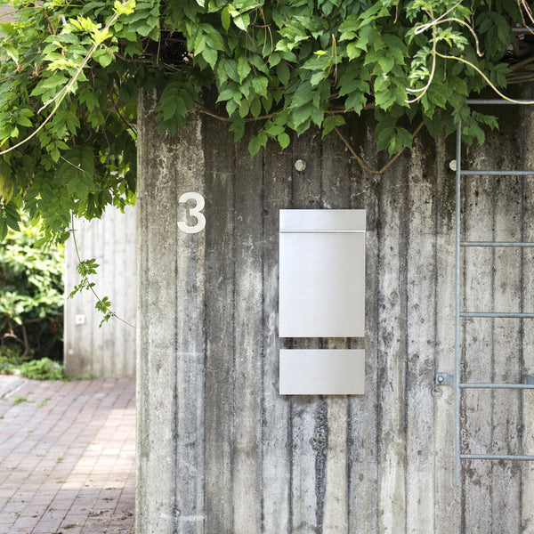 Modern and minimal stainless mailbox