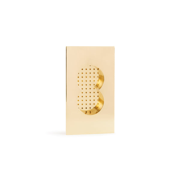 Elegant Stardust Collection Flush Pull in Brass