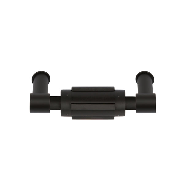 Part of the ONE series by Formani this elegant satin black toilet paper holder is part of the collection.