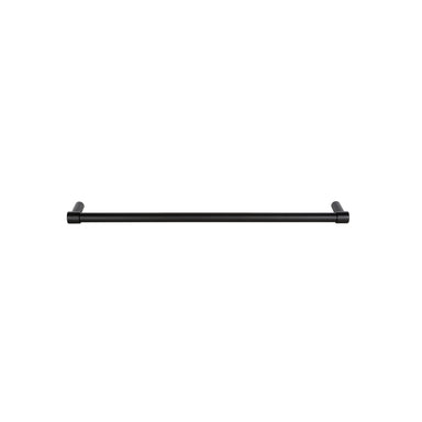 A satin black towel bar that is minimal and modern, 550mm length. By Formani.