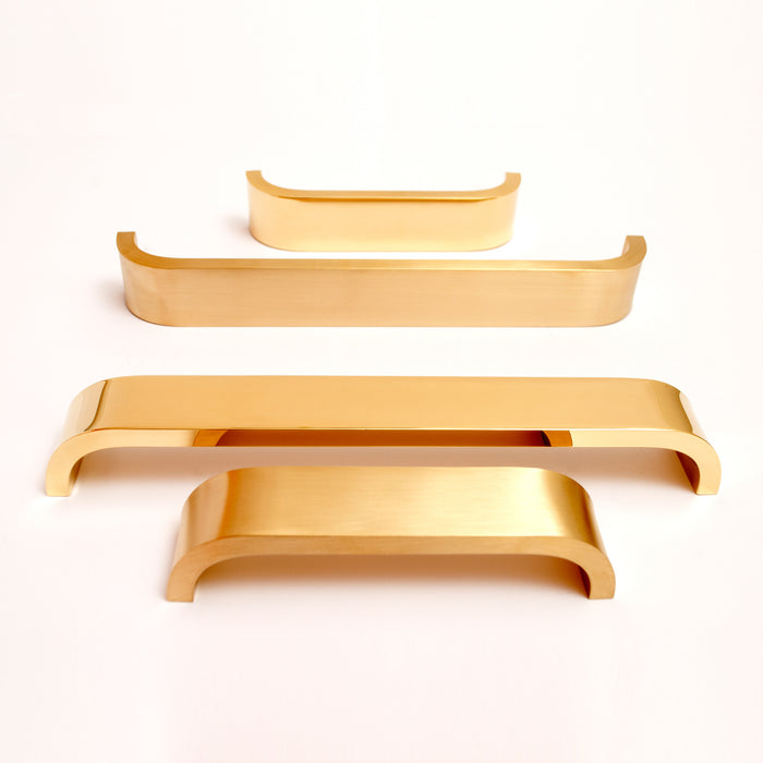 Brass Curve handles. Comes in various lengths and finishes.