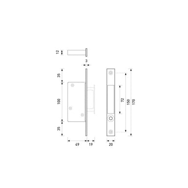 HB680 Edge Pull for Pocket Doors