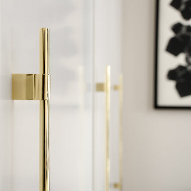 Minimal and modern brass handles for cabinets
