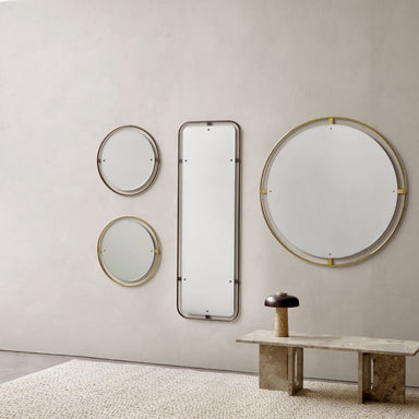 Nimbus Mirror Ø60 Bronzed Brass, Nimbus Mirror Ø60 Polished Brass, Nimbus Mirror Rectangular Bronzed Brass, Nimbus Mirror Ø110 Polished Brass