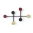 Black/ Brass Afteroon Coat Hanger. Modern and playful coat rack.