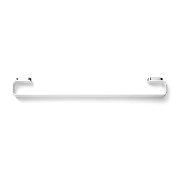 Minimal white towel bar. Danish Design by Norm Architects for Menu.