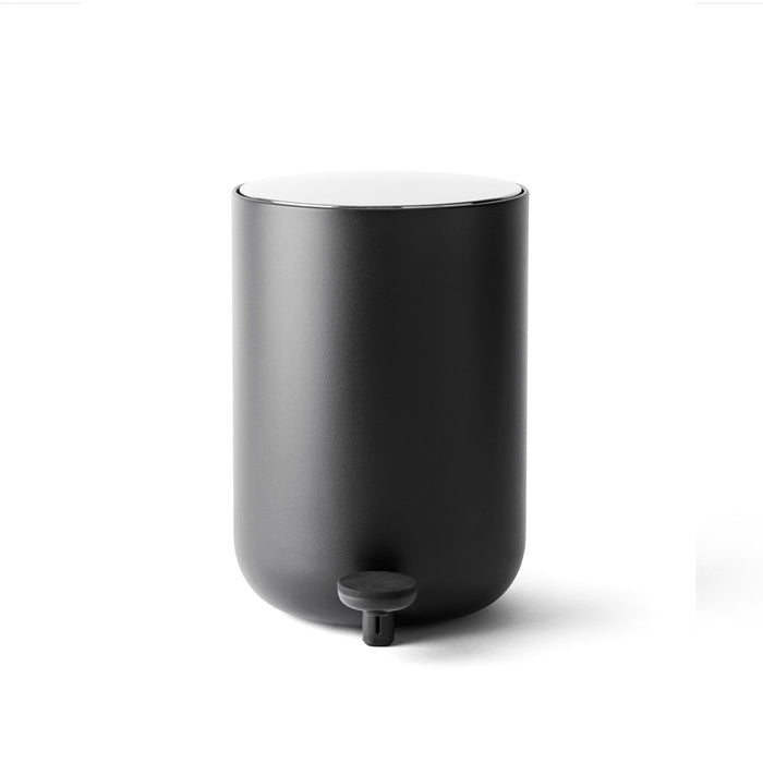 Matte Black Waste Bin. Danish design by Norm Architects for Menu