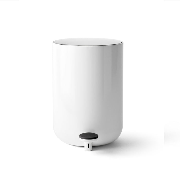 Minimal white waste bin. Danish Design by Norm Architects for Menu.