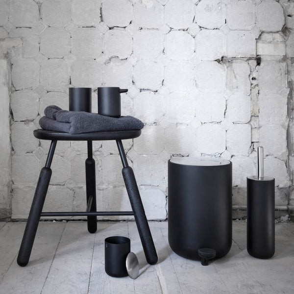 Modern Matte Black Bath collection by Menu. Designed by Norm Architects.